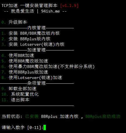 BBR原版/BBR魔改/BBR Plus + 锐速 等四合一安装脚本 - 修改版 - 已配置国内外加速下载