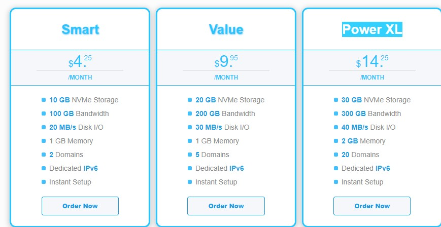 MechanicWeb:新加坡/洛杉矶等虚拟主机,10GB NVMe空间,100GB月流量,月付3.4美金-主机优惠