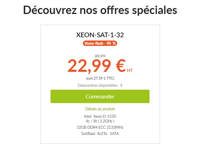 SoyouStart:€22.99/月/D-1520/32GB内存/8TB硬盘/不限流量/250Mbps带宽/法国/英国/德国/波兰-主机优惠