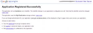google appengine success 300x106 如何创建gae应用