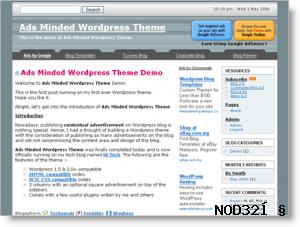 Ads minded wordpress theme